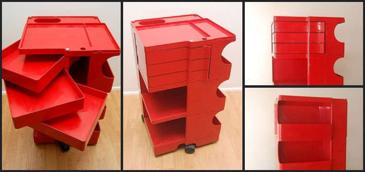 boby trolley by joe colombo for bieffeplast the mid century