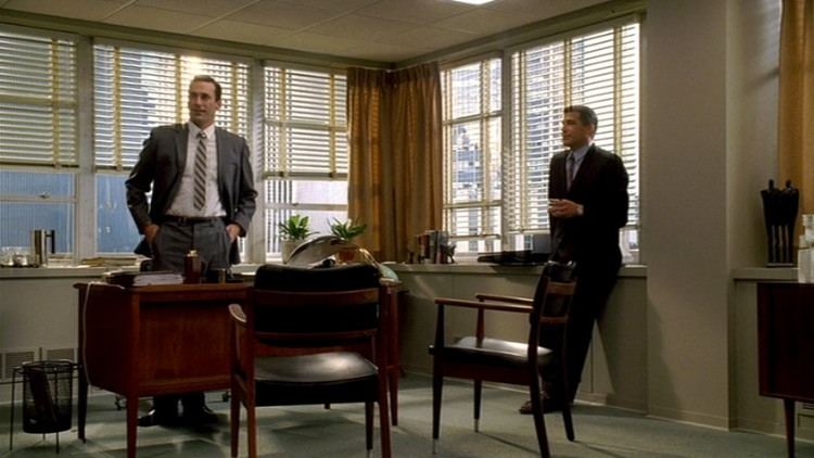 Mad men furniture don draper s office the mid century Better homes and gardens episode last night