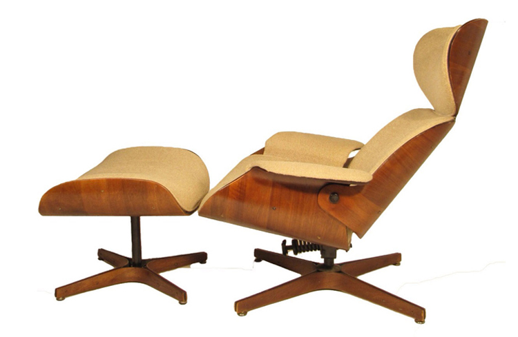 Tuftless Lounge Chair By George Mulhauser For Plycraft